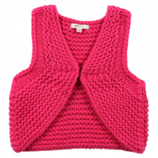 FOX & FINCH FUSCHIA CHUNKY KNIT VEST