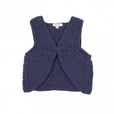 FOX & FINCH NAVY CHUNKY KNIT VEST
