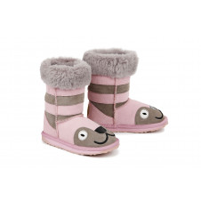 EMU KIDS KITTY GREY PINK MERINO WOOL BOOTS