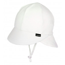 WHITE BABY LEGIONNAIRE HAT WITH STRAP