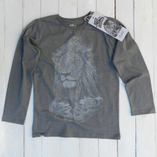 Lion of Leisure lion l/s STEEL GREY