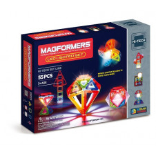 MAGFORMERS LED 55 PC SET