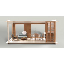 MINIIO DOLLS HOUSE TERRACE SINGLE HOUSE