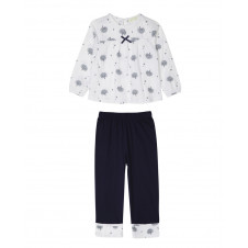 BIG GIRLS MIRANDA NAVY TREE PJ SET FOUR IN THE BED