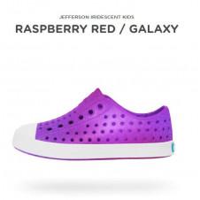 NATIVE IRIDESCENT RASBERRY RED PURPLE SHELL WHITE GALAXY
