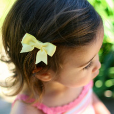 Citron Yellow  HAIR CLIP EMILY BABY BOW PINCH CLIP
