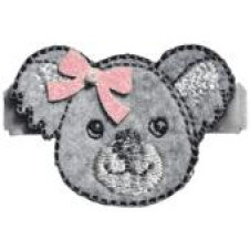 NO SLIPPY HAIR CLIPPY WINNIE SILVER KOALA PINCH CLIP