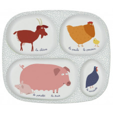 PETIT JOUR PARIS FARM COMPARTMENT PLATE