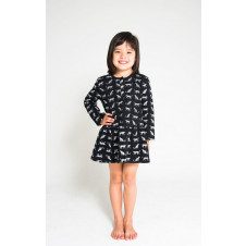 PIP ORGANIC LONG SLEEVE DRESS LEOPARD