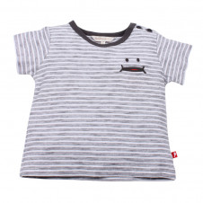 FOX AND FINCH DENVER STEEL STRIPED TEE