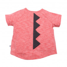 FOX AND FINCH DENVER ROARSOME RED MARL TEE