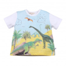 FOX AND FINCH DENVER DINOSAURS GRAPHIC WHITE TEE