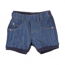 FOX & FINCH OCEANIA DENIM FRENCH TERRY SHORTS