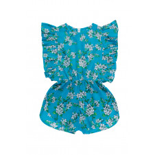 COCO & GINGER DELPHINE PLAYSUIT SEA GLASS ALMOND BLOSSOM