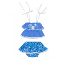 COCO & GINGER KITTY SET PERIWINKLE WITH HAND STITCH