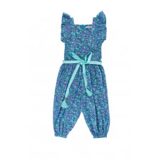 COCO & GINGER WILDE JUMPSUIT BLUE WILD FLOWER