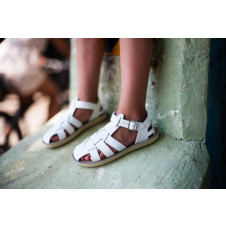 SALTWATER SUN-SAN SHARK SANDALS WHITE