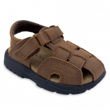 SALTWATER CRAZY HORSE BROWN SANDALS