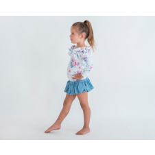 LITTLE HEARTS TUTU SKORT CHAMBRAY