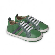 OLD SOLES PARK SHOE GREEN WITH NAVY GREY SUEDE