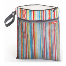 Skip Hop Grab and Go Wet Dry Bags metro Stripe