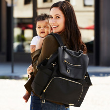 SKIP HOP CHELSEA DOWNTOWN CHIC DIAPER BACKPACK BLACK