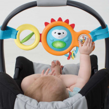 skip hop explore and toy bar for baby carriers and prams