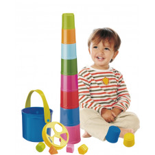 MINILAND GIANTTE STACKING SHAPE TOWER IN BUCKET
