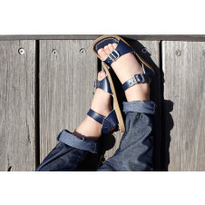 SALTWATER SURFER NAVY SANDALS