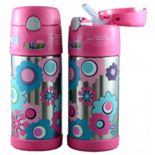 THERMOS FUNTAINER DRINK BOTTLE FLOWER 355ML (POS System)
