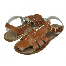 SALTWATER SHARK TAN SANDALS