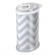 UBBI DIAPER BIN GREY CHEVRON LIMITED EDITION