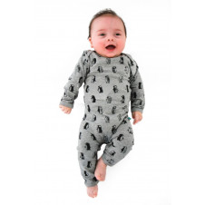 ALEX & ANT PENGUIN ROMPER GREY