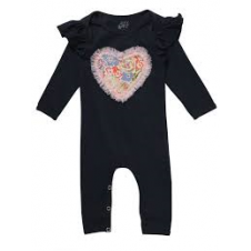 ALEX & ANT NAVY HEART ROMPER