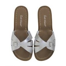 SALTWATER CLASSIC SLIDES SILVER