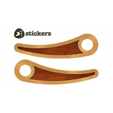 WISHBONE WOODIE STICKER RECYCLED BIKE